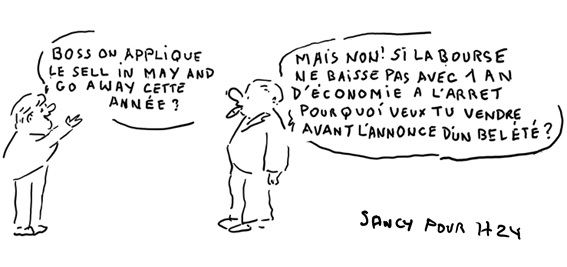 Le dessin de la semaine : Sell in May and go away ?